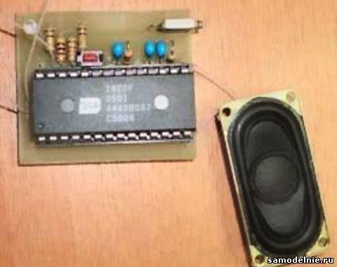 Диктофон собран на микросхеме