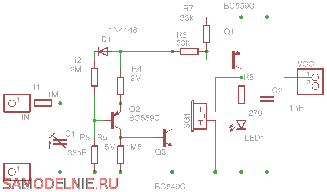 Схема пробника для электрика