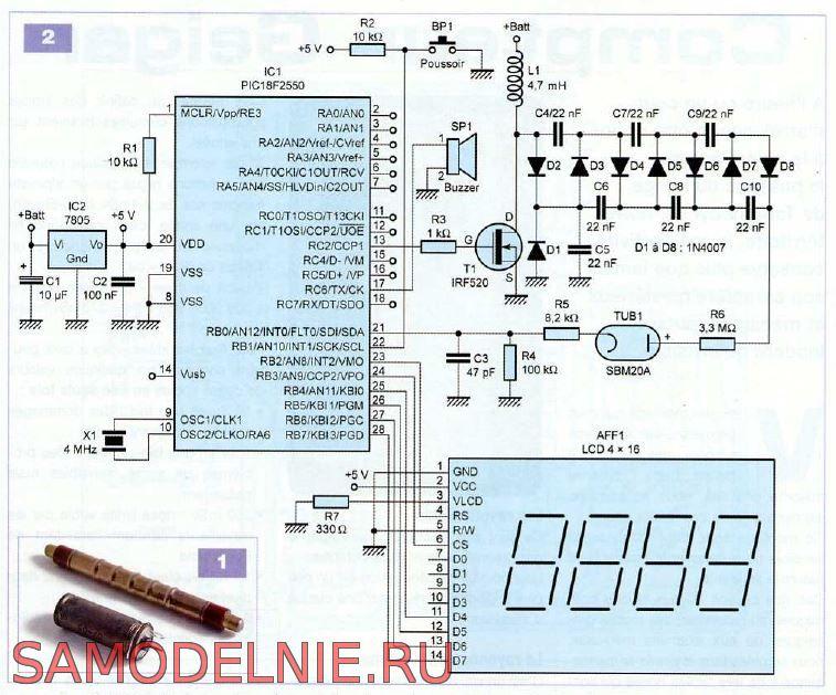 Схема дозиметра на СБМ-20