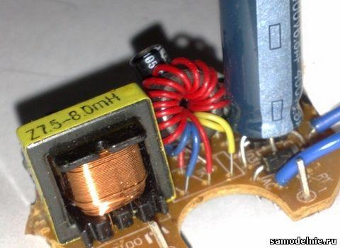 строчный трансформатор,