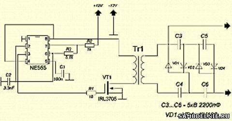 Схема ионизатора в авто