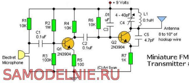 схема радиопередатчика
